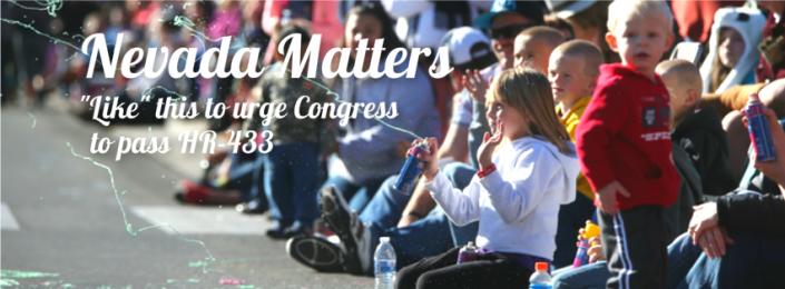 Pass Bills. Create Jobs. HR - 433, Congress, Nevada