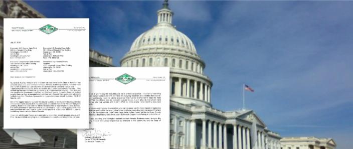 Local Business Man Writes Congress and Senate