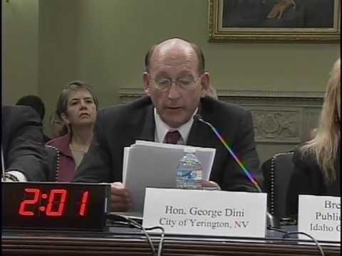 Mayor Dini testifies on behalf of the Yerington Jobs Bill